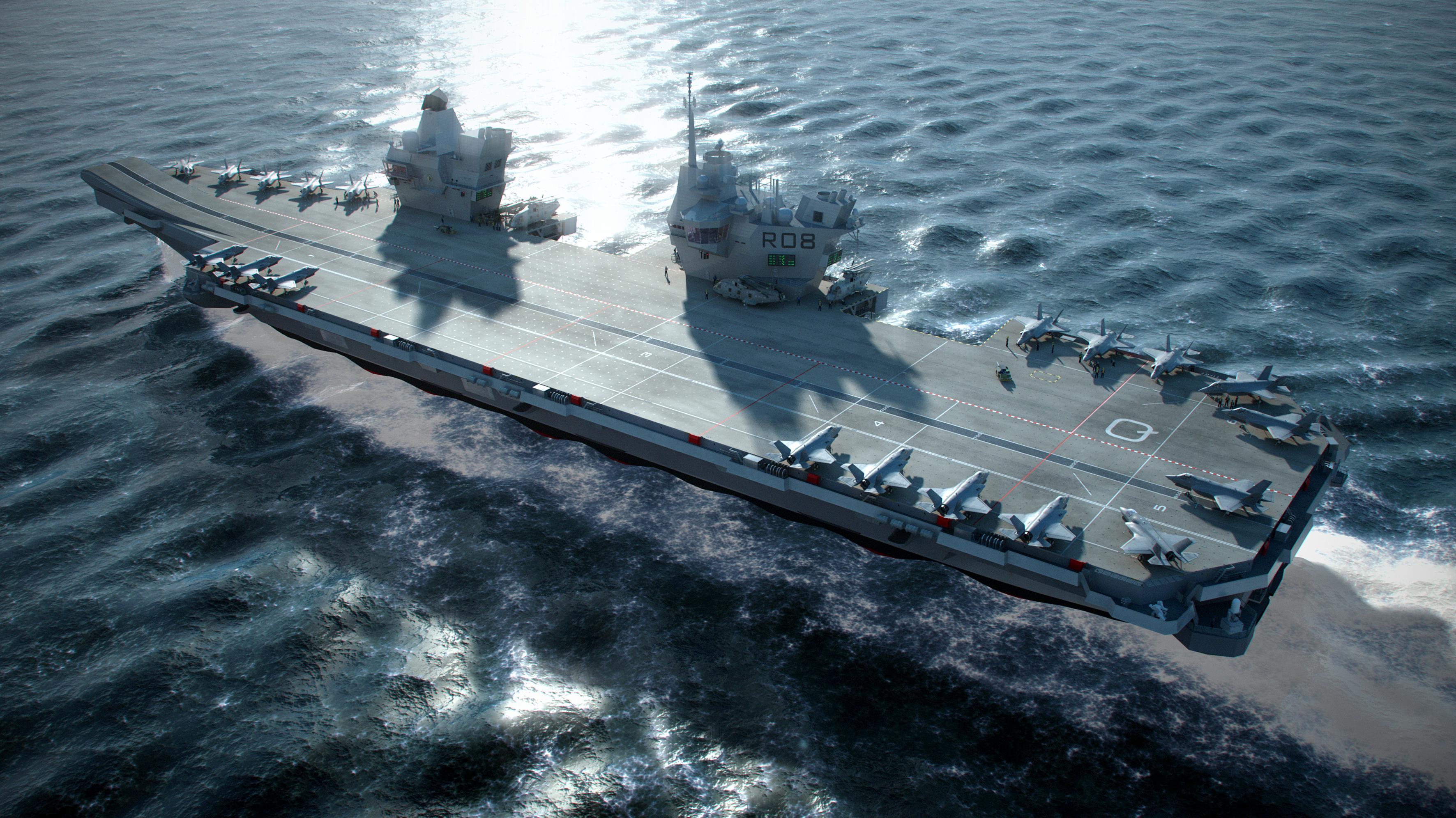 British Aircraft Carrier Queen Elizabeth Queen Elizabeth Class ...